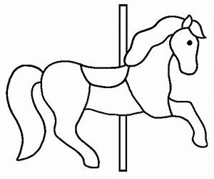 merrygoroundpony free colouring pages With merry go round horse template