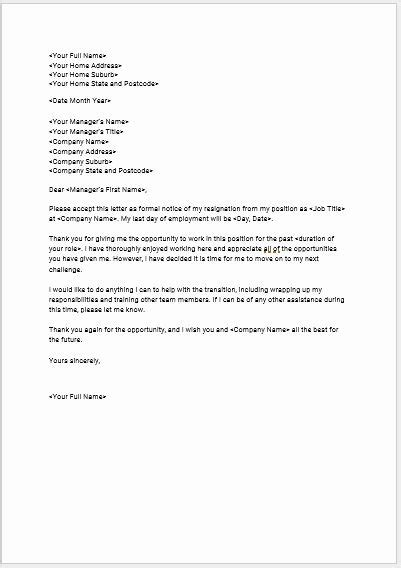 Voluntary Resignation form Template Awesome Download Seek S Free Standard Resignation Letter