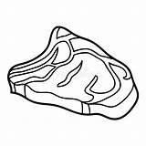 Steak Beef sketch template