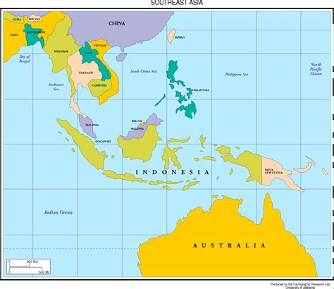 map  southeast asia  capitals  travel information