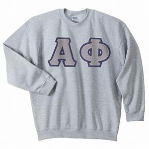 alpha phi sewn on greek letter crewneck sweatshirt alpha With sewn on letters sweatshirts