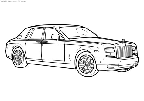 rolls royce phantom coloring pages coloring pages