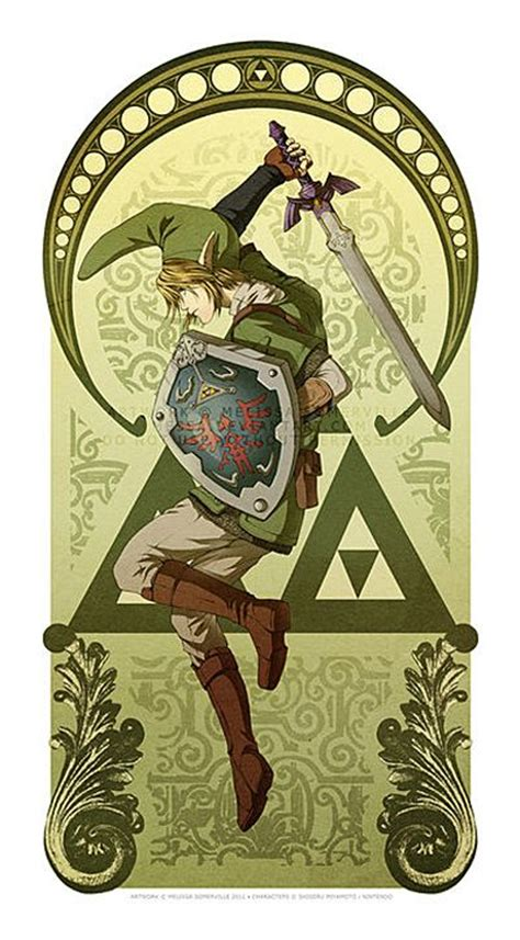 Legend Of Zelda Art Nouveau The Heroes Twilight And