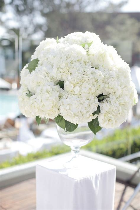 hydrangea centerpieces for weddings ideas white hydrangea centerpiece elizabeth