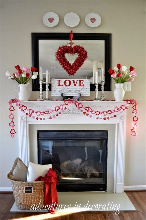 valentines day mantel beautiful valentine s day mantel decorations 2017