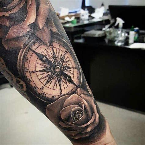 tattoo arm rosen kompass ifve     skin