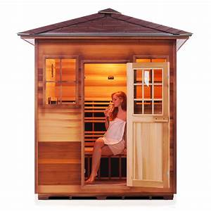 radiant 4 person outdoor infrared sauna series