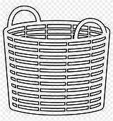Laundry Coloring Basket Pinpng sketch template
