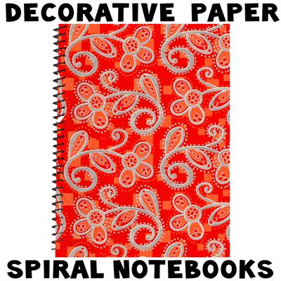 decorative notebooks decorating spiral notebooks with decorative paper for back