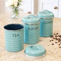 black and white kitchen canisters vintage blue tea coffee sugar canister set by dibor