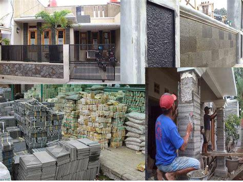 desain rumah minimalis  dinding batu alam
