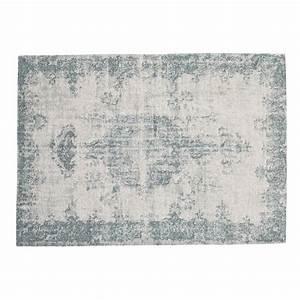 Tapis Bleu 155 X 230 Cm VILLANDRY Maisons Du Monde
