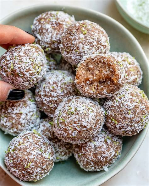 Clean Treats Coconut Lime Pie Protein Balls Food