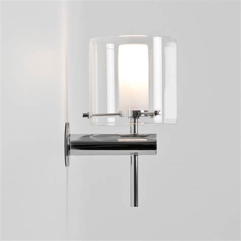 astro arezzo polished chrome bathroom wall light at uk
