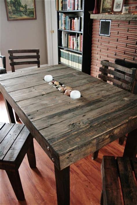diy pallet dining tables