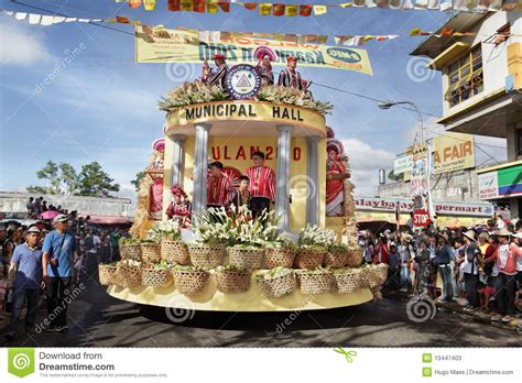 philippines bukidnon tribal float editorial stock photo