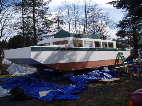 Scow Houseboat Plans by Liveaboard Hull Diy Cruisers Sailing Forums