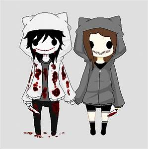 Chibi Jeff the Killer and Mouthless Julie by Lost ...