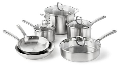 stainless steel cookware pots pans