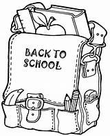 Coloring Backpack Topcoloringpages Child sketch template