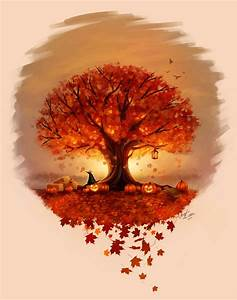 Autumn Tree Tattoo - Commission by ~Angela-T on deviantART ...