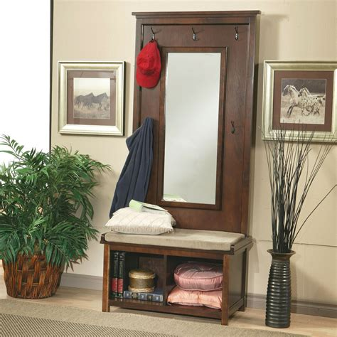 Mirror Entryway by Tree With Mirror Entryway Coat Rack Seat Cushion