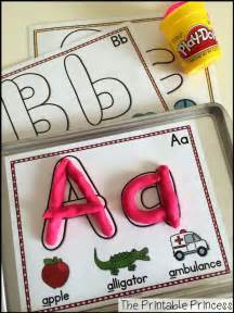 Alphabet Play Dough Letters Mats