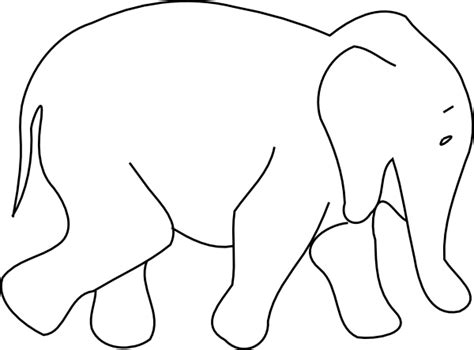 elephant animal outline clip art  clkercom vector
