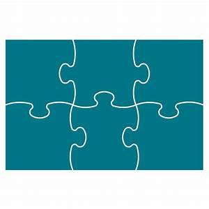 Puzzle Template 6 Pieces - ClipArt Best