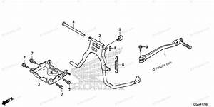 Honda Scooter 2015 Oem Parts Diagram For Stand    Kick