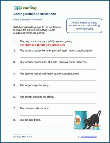adding details worksheets  learning
