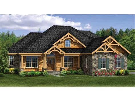 walk out basement house plans craftsman ranch with finished walkout basement hwbdo76439