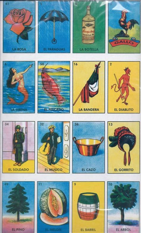 large loteria mexican bingo card game  reduxu  etsy