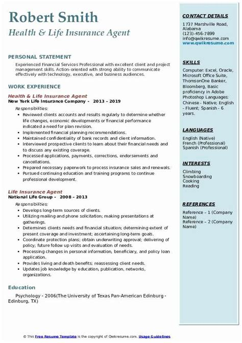 Insurance broker role is responsible for acute, mainframe, retail, finance, credit, training, trading, planning, design, research. Insurance Agent Resume Job Description Best Of Life Insurance Agent Resume Samples (2020) | Life ...