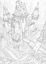 Cliff Deviantart Castle Coloring Pages sketch template