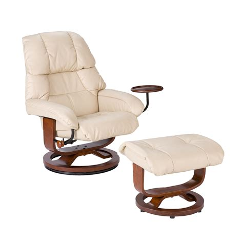 leather chair with ottoman view larger