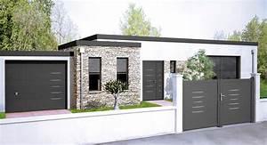 best idee deco entree de maison contemporary amazing With porte d entrée alu avec meuble salle de bain marron