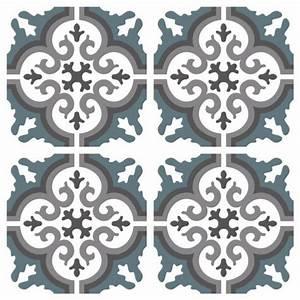 Stickers Imitation Carreaux De Ciment : sticker carreaux de ciment simone bleu gris ~ Melissatoandfro.com Idées de Décoration