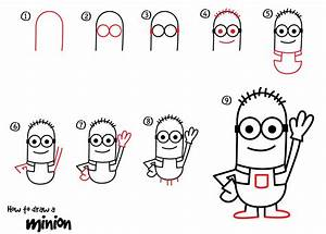 How to Draw a Minion – Dabbler (9 steps) | Daily Doodly