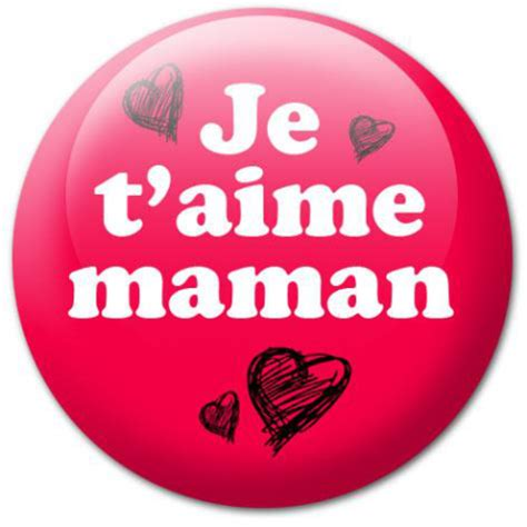 stickers texte cuisine badge je t 39 aime maman stickers malin