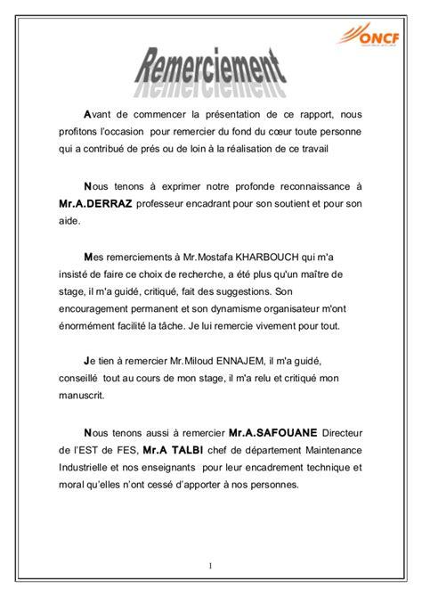 rapport de stage 3eme cuisine exemple lettre de remerciement rapport de stage 3eme 9