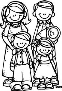 Families Clip Art Black and White