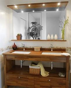Caillebotis Bois Salle De Bain : bois exotique pour salle de bain moderne construire ma ~ Premium-room.com Idées de Décoration