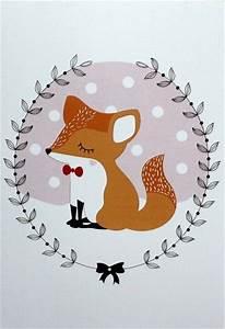 les 25 meilleures idees concernant dessin renard sur With affiche chambre bébé avec robe vintage fleur