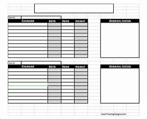 free personal training excel workout log 1 etd With personal training workout template