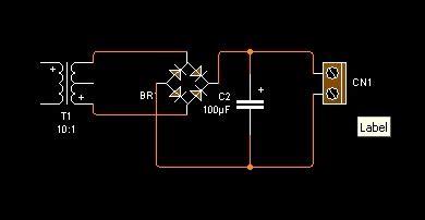 sirkitelektronika rangkaian adaptor variabel 12 v 3 ere
