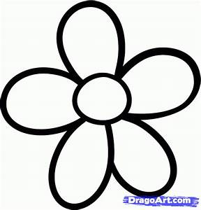 How to Draw a Daisy for Kids, Step by Step, Flowers For ...