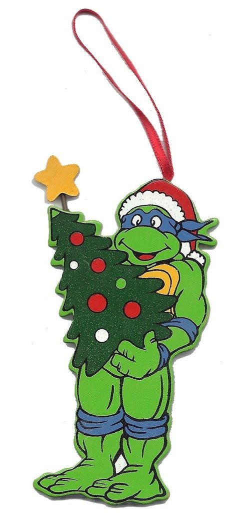 teenage mutant ninja turtles christmas ornament leonardo