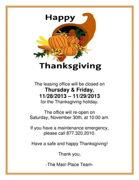 closed sign  thanksgiving printable festival collections