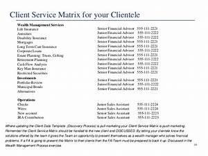 building a financial advisor39s service matrix With service matrix template